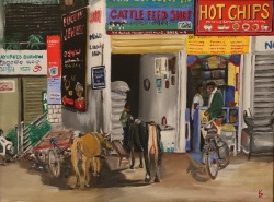 Cattle feed shop, såld